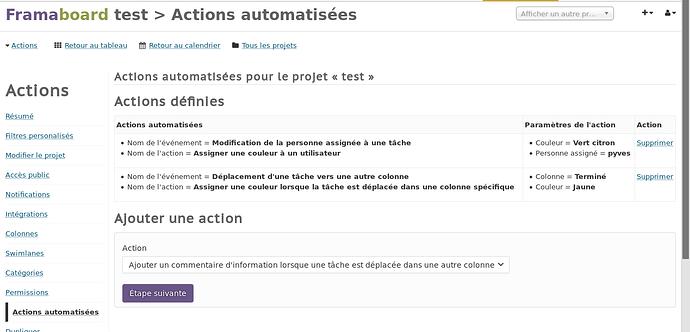 Screenshot framaboard actions automatisées